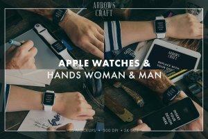 工匠场景风格iWatch样机模板 Arrows & Craft – Apple Watch Mockups插图4