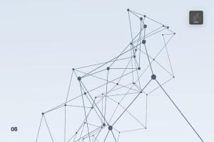 带连接线粒子抽象图形PS笔刷 Particles with Connected Lines Photoshop Brushes插图9