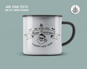 圣诞快乐&新年主题T恤印花图案设计素材 Merry Christmas and New Year T-Shirt. Xmas Print插图(2)
