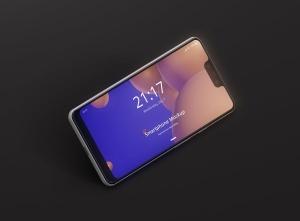 谷歌智能手机Pixel 3 XL屏幕预览样机模板 Smart Phone Mockup Pixel 3 XL插图4