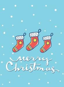 圣诞节&新年庆祝主题简易矢量手绘图形素材 Collection of Christmas cards插图2
