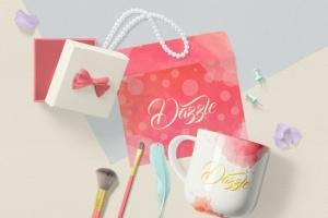华丽的卡片和信封设计样机模板 Gorgeous Card & Envelope Mockup Scenes插图4
