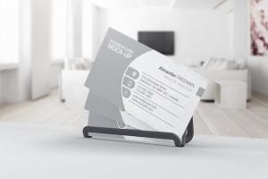 企业品牌名片设计展示样机 Business Card Mockups插图3