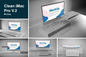 极简设计风格iMac一体机电脑样机v2 Clean iMac Pro V.2插图1