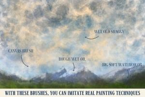 油画水彩画插画师必备Procreate美术画笔笔刷 Art Brushes for Procreate插图(2)