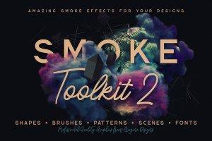 烟雾萦绕视觉特效PS素材大礼包[3.03GB] Smoke Toolkit 2插图2