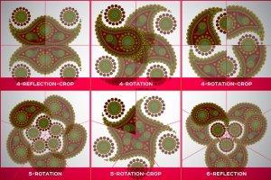 曼陀罗装饰元素AI图层模板 Ai Mandala Ornament Templates插图4
