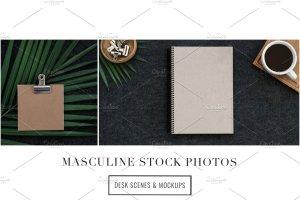 iPad办公场景样机模板 Masculine Stock Photos + iPad Mockup插图5