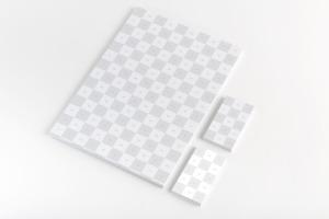 A4尺寸大小企业信纸和名片设计效果图样机02 A4 and Business Cards Mockup 02插图2