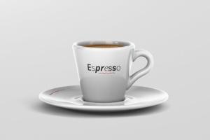 逼真咖啡杯马克杯样机模板 Espresso Cup Mockup – Cone Shape插图2