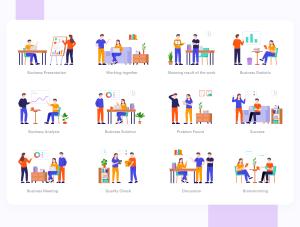 一流设计素材网下午茶:创业概念的矢量插画素材下载[Sketch,Ai]插图6
