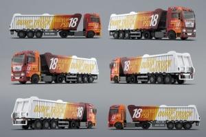 半挂车半挂卡车外观喷漆图案样机模板 Trucks Mock-Up插图10