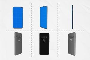 三星智能手机S10移动应用UI设计预览样机 S10 Kit MockUp插图3