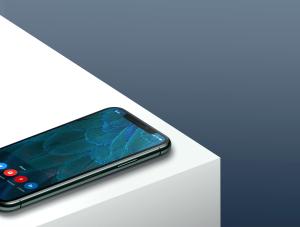 一流设计素材网下午茶:等距iPhone 11 pro场景展示样机插图3
