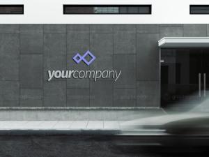 3D企业公司建筑Logo展示样机插图6