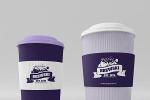 冷饮品牌设计样机模板[不锈钢冰摇杯/马克杯/玻璃杯/纸袋] Branded Products Mock-up V2插图5