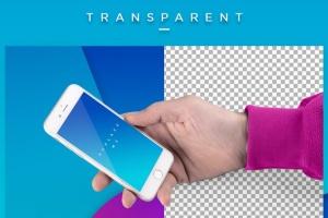 手持iPhone样机模板 iPhone Mock-up Brending Templates with Vivid Bcg's插图3