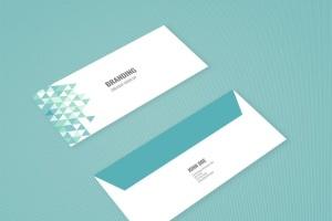 企业品牌办公用品样机模板 Branding Identity Mock Up – Teal Tirangles插图9