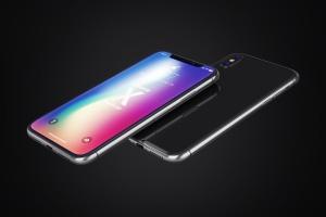 多角度iPhone X智能手机样机 Phone X Realistic Mock-Ups插图1