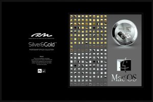 超级金色&银色金属图层样式合集 RM Silver & Gold插图2