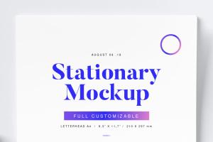 高逼格品牌VI设计预览图办公用品样机02 Stationery Mockup 02插图2