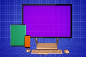 跨平台设计项目展示样机合集 Responsive Screens Mockup插图12