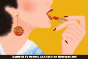 插画师必备的复古时尚美容Procreate笔刷 Beauty Brushes for Procreate插图(4)