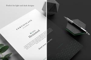 六边形图形设计品牌VI视觉设计效果图样机套件v2 Hexamed Branding Mockup插图4