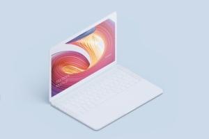 MacBook Pro等距创意样机模板 Macbook PRO Isometric Creative Mockup插图5