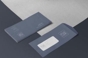 6款企业品牌VI设计展示信封&信纸样机模板 6 Envelope & Letter Mockups插图7