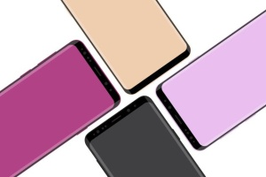 三星智能手机S9+样机模板 Samsung Galaxy S9 Plus vector mockup插图2