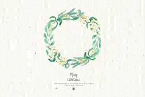 水彩手绘圣诞装饰元素PNG高清图片素材 Christmas Decorations插图4