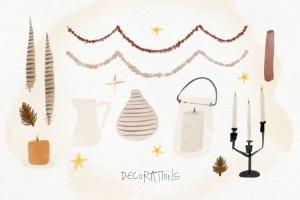 秋天主题水彩手绘图案设计素材包 Autumn Watercolor Kit插图8