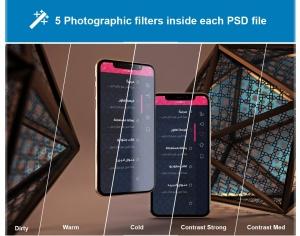 iPhone Xs智能手机屏幕设计预览样机模板 Arabic iPhone XS插图8