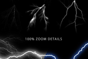 50款雷电闪电光线PS笔刷 50 Lightning Photoshop Brushes插图7