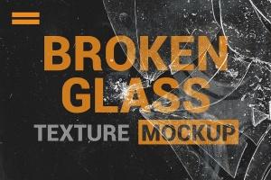 破碎玻璃效果PS图层样式PSD分层模板 Broken Glass Texture Mockup插图3
