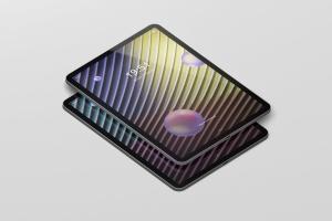 iPad Pro平板电脑屏幕设备样机 Pad Pro Tablet Screen Mockup插图1