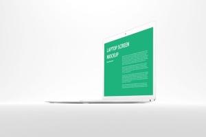 白色背景MacBook笔记本电脑演示样机 White MacBook Mockup插图5