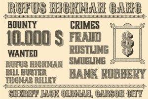 复古西部牛仔电影风格AI图层样式 Western Typography Saloon插图6