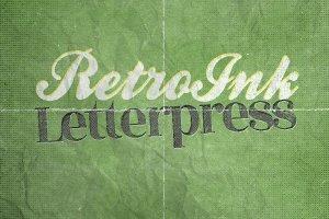 复古风格凸版印刷纹理PS图层样式插图1