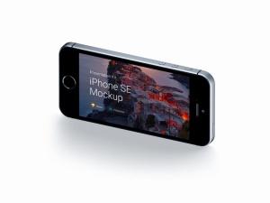 超级主流桌面&移动设备样机系列:iPhone SE 智能手机样机 [兼容PS,Sketch;共3.13GB]插图2