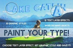 油画风格明信片效果图层样式 Postcard Shop for Adobe Photoshop插图5