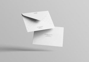 C6信封外观设计样机模板 C6 Envelope Mockup插图8