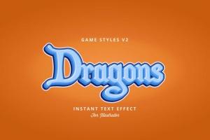创意游戏字体设计特效AI图层样式v2 Game Styles for Illustrator V2插图3