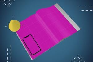 杂志印刷设计/杂志APP设计图预览样机样机 Abstract Magazine App Mouckup插图9