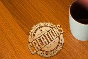 精致木纹浮雕logo样机模板 Wood Logo Mockups插图3