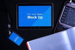 平板电脑智能设备演示样机模板V.1 Tablet MockUp V.1插图1