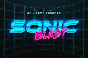 80年代文本图层样式 80s Text Effects插图8
