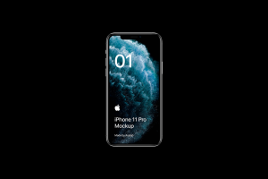 全新iPhone 11 Pro手机屏幕界面演示样机模板[PSD格式]插图3