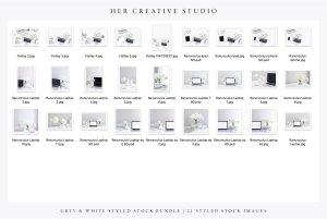 现代简约风格灰白配色场景模板 White & Grey Styled Stock Bundle插图6